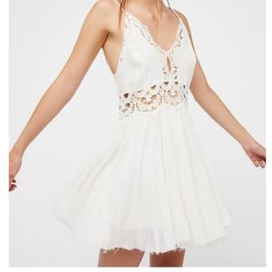 Free People White One Coast to Cove Mini Dress